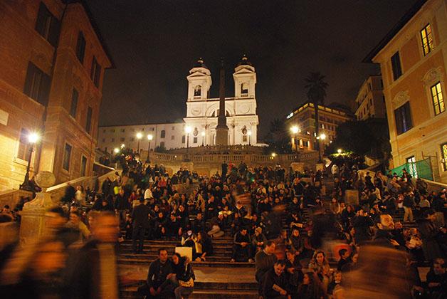 La famosa escalera de Plaza de España. Foto © Patrick Mreyen