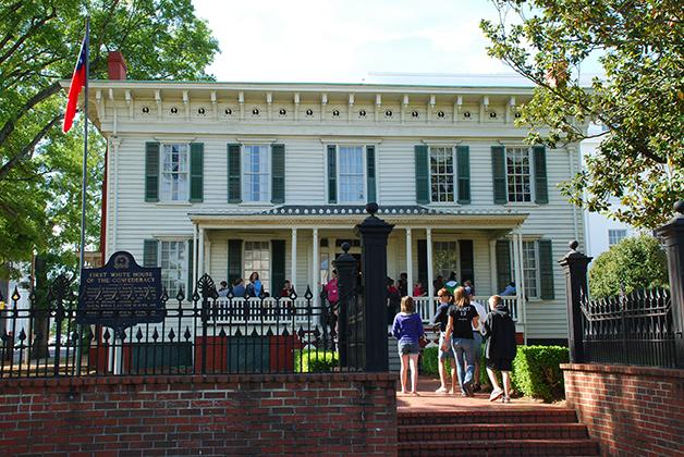 La Primera Casa Blanca en Montgomery, Alabama. Foto © Patrick Mreyen
