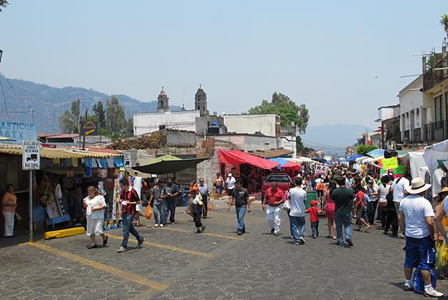 Tianguis en Tepoztlán. Foto © Vicente Casado