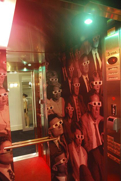 El ascensor y creo que me colé en la foto. Foto © Patrick Mreyen