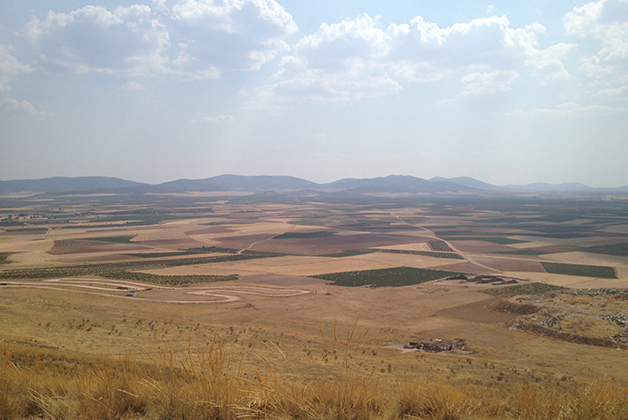 El paisaje desde la cima del cerro. Foto © Silvia Lucero