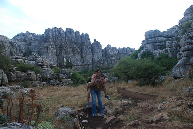 Patrick y yo disfrutando del paisaje. Foto © Patrick Mreyen