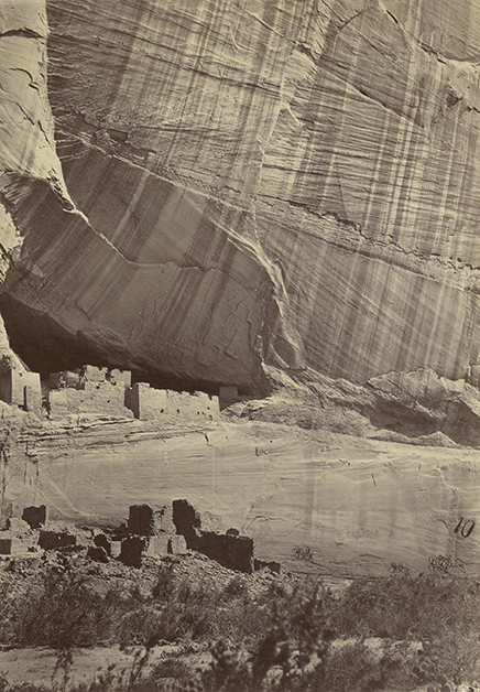 Timothy H. O'Sullivan, photographer (American, about 1840 - 1882)Ancient Ruins in the Cañon de Chelle, New Mexico, 1873, Albumen silver printImage: 27.6 x 19.2 cm (10 7/8 x 7 9/16 in.) Mount: 50.8 x 40.6 cm (20 x 16 in.)The J. Paul Getty Museum, Los Angeles. Digital image courtesy of the Getty's Open Content Program.