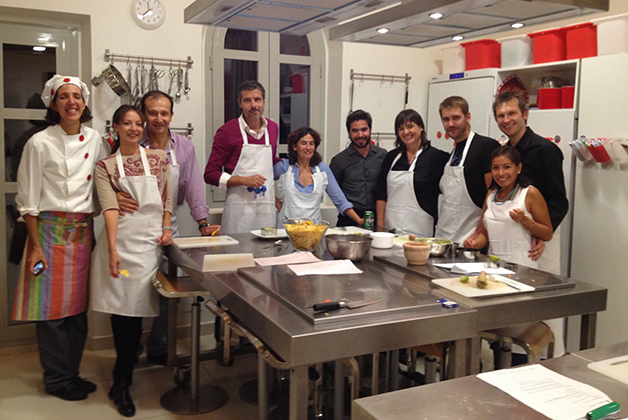 El grupo de chefs de la noche mexicana en Cooking Málaga. Foto © Silvia Lucero
