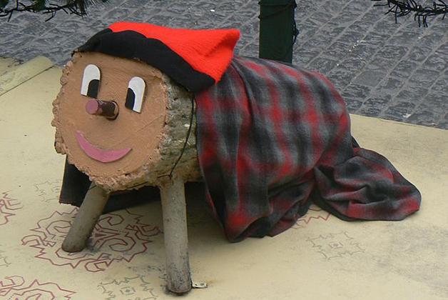 Tió de Nadal. Foto de Wikimedia Commons