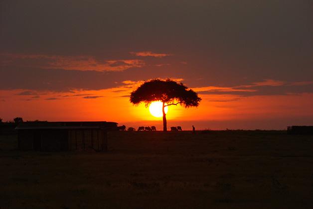 Atardecer en Kenia. Foto © Vanessa Lucero