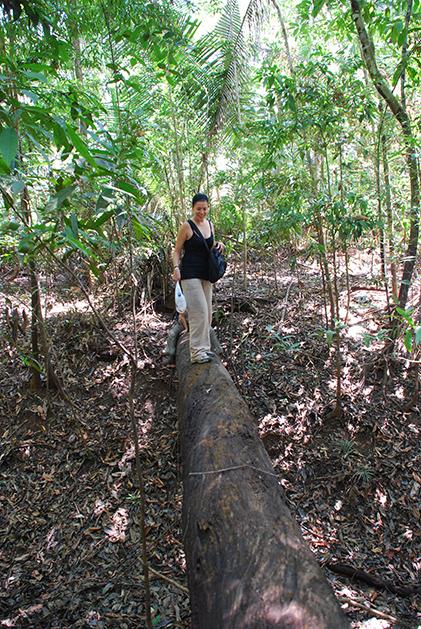 Caminata en el Amazonas. Foto © Patrick Mreyen