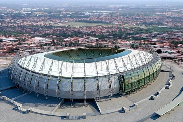 Arena Castelão, uno de los estadios donde se jugará la Copa del Mundo de la FIFA 2014. Foto de la página oficial del estadio Arena Castelão