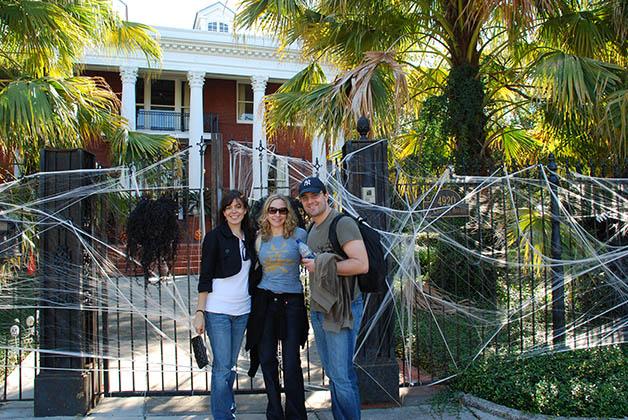 Halloween en New Orleans con nuestros queridos amigos de Estados Unidos y Dinamarca. Foto © Patrick Mreyen