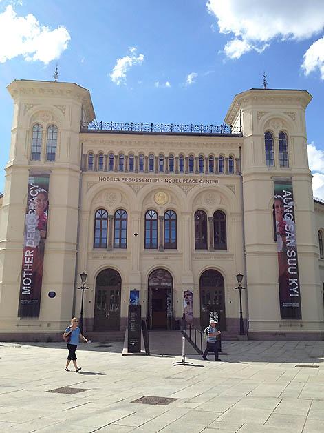 Centro Nobel de la Paz en Oslo, Noruega. Foto © Silvia Lucero