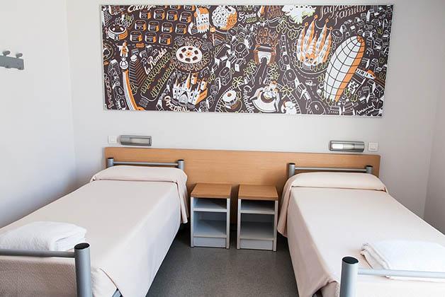 Habitación individual. Foto @ Youth Hostel Pere Tarrés