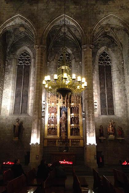 Una de las capillas de la iglesia. Foto © Silvia Lucero