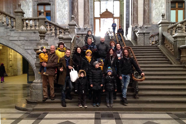 La primera foto en grupo. Foto © Silvia Lucero