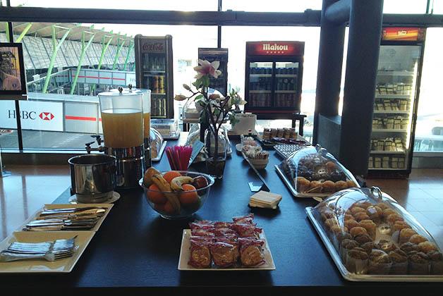 El desayuno era más limitado, pero no estaba nada mal. Foto © Silvia Lucero