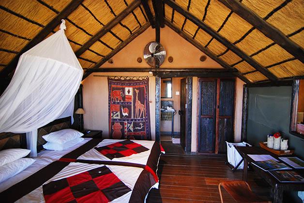 El interior de nuestro bungalow. Foto © Silvia Lucero