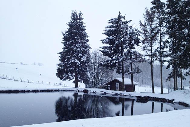 Estas son las vistas del restaurante. Por ahí pasan las pistas de esquí. Foto © Silvia Lucero