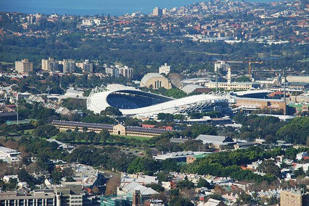 Vista al estadio desde la Torre de Sidney. Foto © Patrick Mreyen.