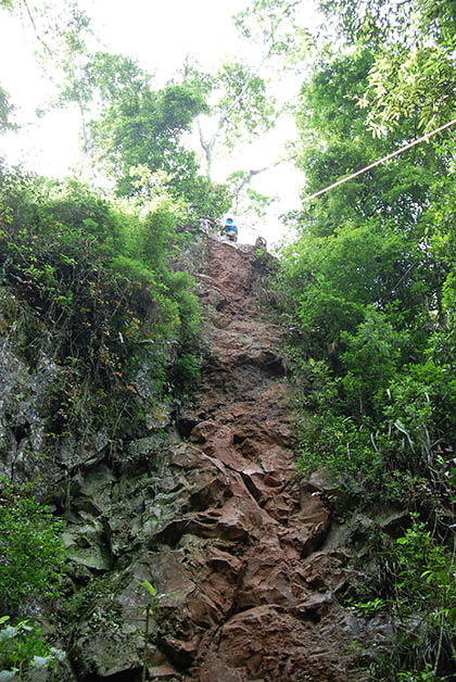 Éste era el descenso. Foto © Silvia Lucero