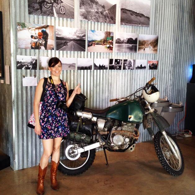 Yo encontré mi moto trotamundos. Foto © Silvia Lucero