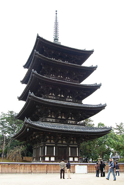 Pagoda de cinco pisos en Kofukuji. Foto © Patrick Mreyen