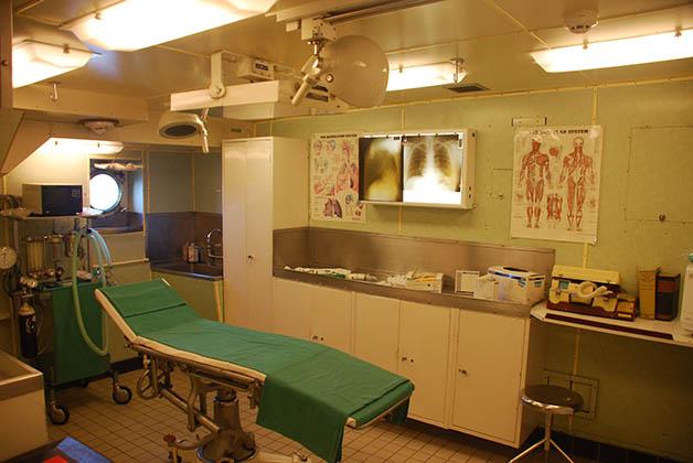 El barco también estaba diseñado para funcionar como hospital en tiempos de guerra. Foto © Silvia Lucero