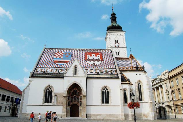 Iglesia de San Marcos en Zagreb. Foto © Patrick Mreyen