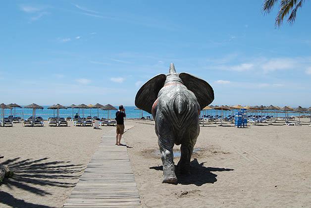 Una de las playas de Marbella. Foto © Silvia Lucero