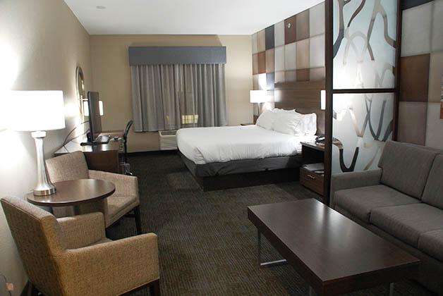 Nuestra habitación en el Holiday Inn Express. Foto © Patrick Mreyen