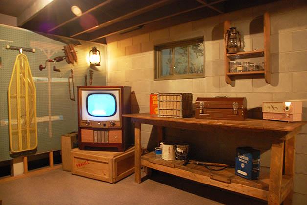 Así sería el sótano de una casa. Hacen un simulacro como si azotara un tornado. Foto © Patrick Mreyen