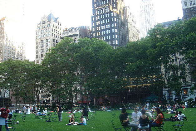 Bryant Park en Manhattan. Foto © Silvia Lucero