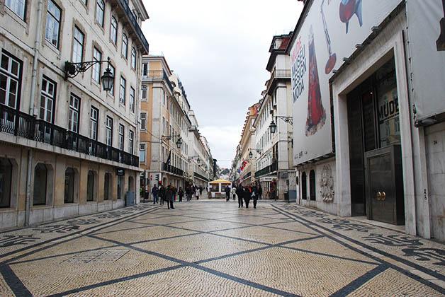 Rua Augusta en la parte Baixa de Lisboa. Foto © Patrick Mreyen