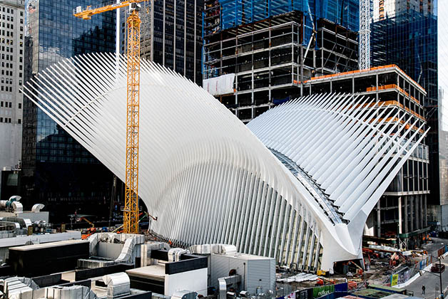 El Oculus de la estación en WTC, en Nueva York. Foto de la página de prensa del World Trade Center