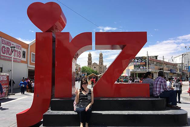"""Escultura 'Yo amo a Juárez"""". Foto © Patrick Mreyen"""
