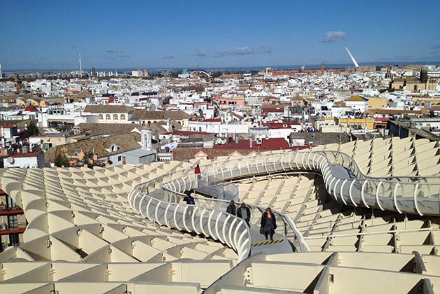 Sevilla desde las setas. Foto © Patrick Mreyen