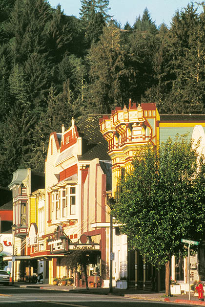 Calle principal de Ferndale. Foto de Carrie Grant: Cortesía de Humboldt County CVB, redwoods.info.
