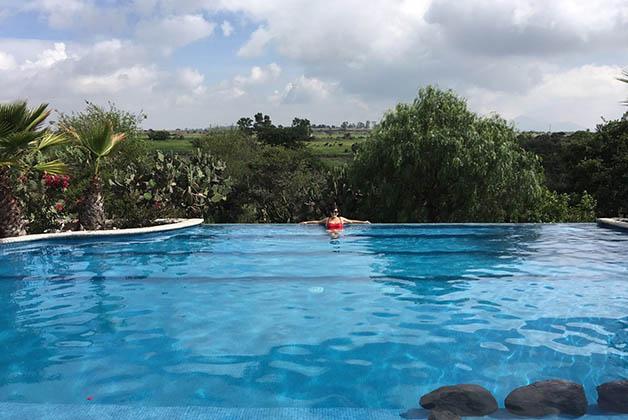 Disfrutando la piscina. Foto © Patrick Mreyen