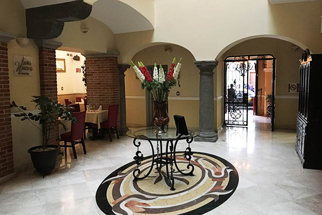 Lobby del hotel. Foto © Silvia Lucero