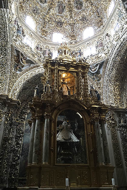 Capilla del Rosario, en la foto no se ve ni la mitad de lo impresionante que es en persona. Foto © Silvia Lucero