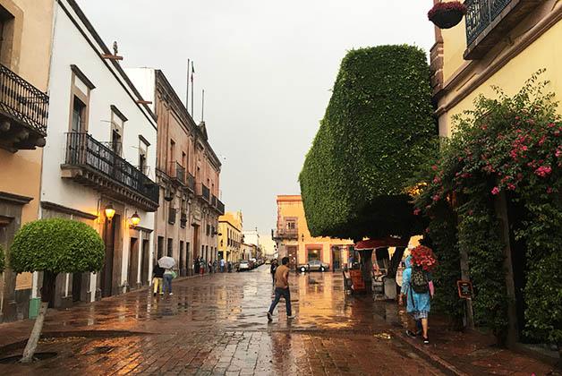 Tarde lluviosa en Querétaro. Foto © Silvia Lucero