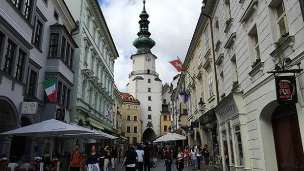 Calle en Bratislava. Foto © Silvia Lucero