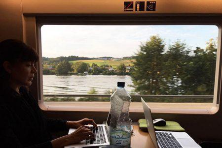En el tren hacia Viena. Foto © Patrick Mreyen
