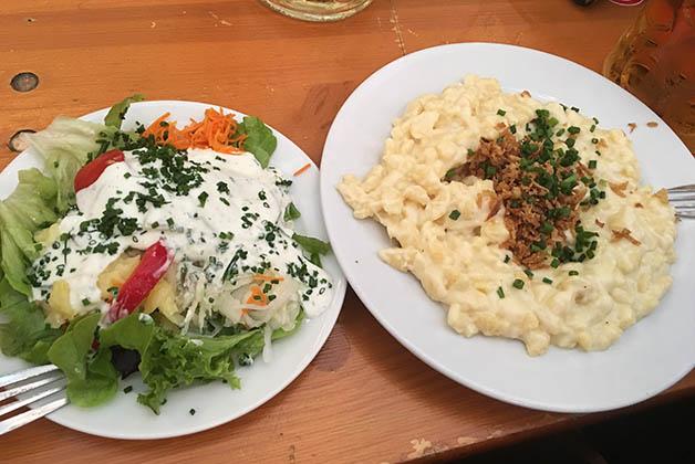 El Käsespätzle estaba delicioso. Foto © Silvia Lucero