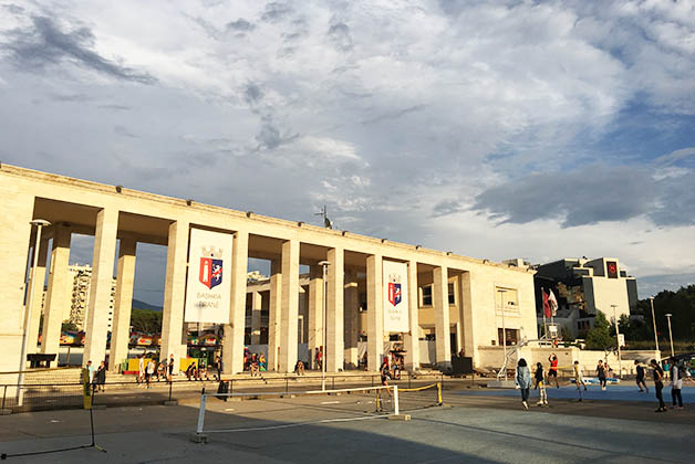 Área de recreo junto a la universidad. Foto © Silvia Lucero