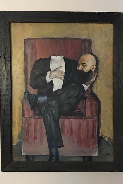 Pintura del mago Astor. Foto © Patrick Mreyen