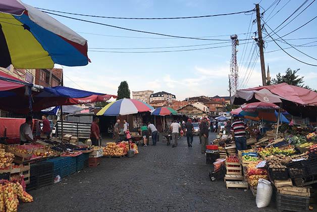 Mercado en el área del Bazar. Foto Silvia Lucero
