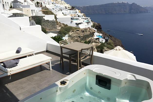 La terraza privada de nuestra suite. Foto © Silvia Lucero