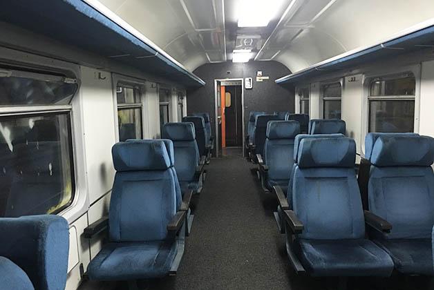 La 'primera clase' del tren. Foto © Silvia Lucero