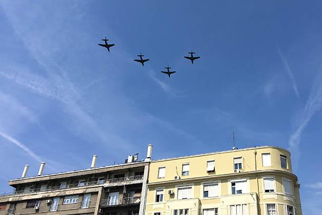 Aviones militares. Foto © Patrick Mreyen