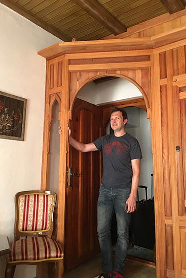 Y todo lleno de detalles de madera. Foto © Silvia Lucero