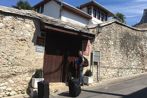 A nuestra llegada a esta casa que también es monumento nacional. Foto © Silvia Lucero